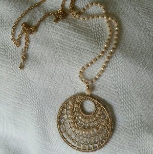 A New Day beaded round pendant necklace